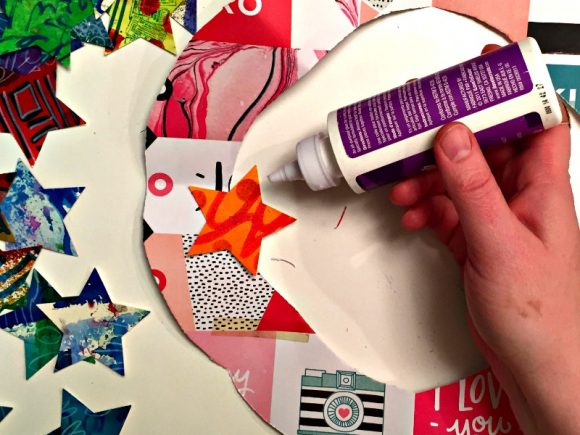 Make a Mixed Media Paper Collage Wreath