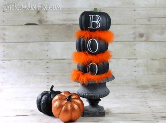 Make a Dollar Store Pumpkin Topiary