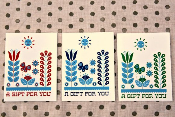 Free Printable Folk Art Cards - from Dollar Store Crafts & Cathe Holden