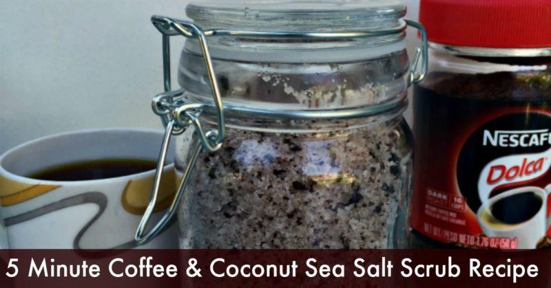 5 Minute Coffee & Coconut Sea Salt Recipe - Dollar store crafts