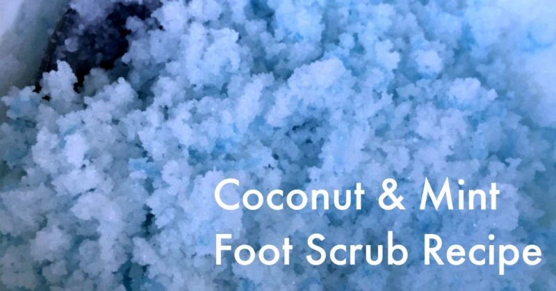 Coconut & Mint Foot Scrub Recipe