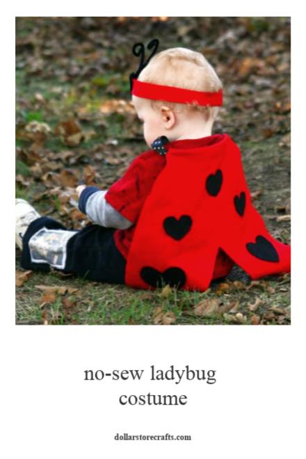 No-Sew Ladybug Costume Tutorial