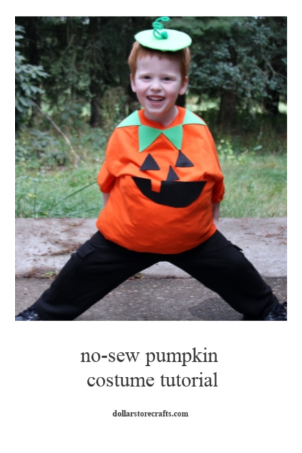 No-Sew Pumpkin Costume Tutorial - Dollar Store Crafts