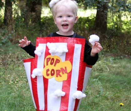 No Sew Popcorn costume from dollarstorecrafts.com