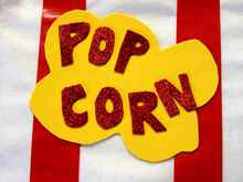 instructions for a no-sew popcorn costume on dollar store crafts