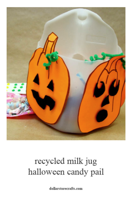 Recycled Halloween Candy Pail